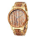 Premium Herrenuhr aus Holz - Automatikuhrwerk - Mechanische Holzuhren mit Automatikaufzug für Herren