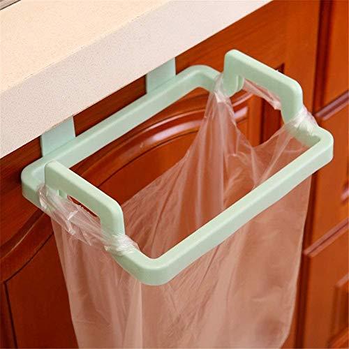 Soporte para Bolsas de Basura para Puerta de Armario, Soporte para Bolsa de plástico,Cubos de Basura Colgando para la Cocina para Almacenamiento de Basura en la Cocina(Verde)