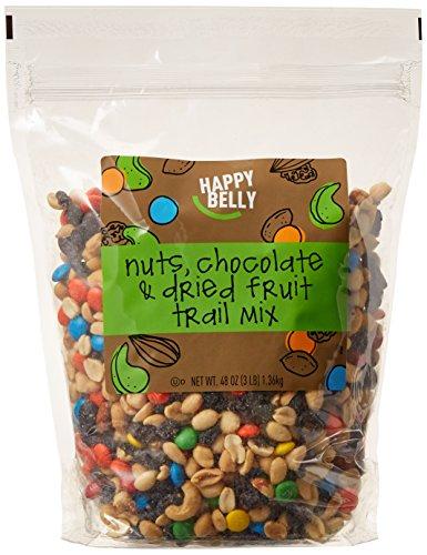 Amazon Brand - Happy Belly Nuts, Chocolate & Dried Fruit Trail Mix, 48 oz