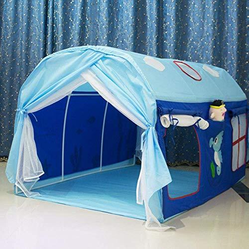 MWbetsy Tienda Infantil Cama Camas separadas Artefacto túnel niño casa de Juegos Cama con Dosel Cama Princesa Casa de Juegos de Abrigo - A