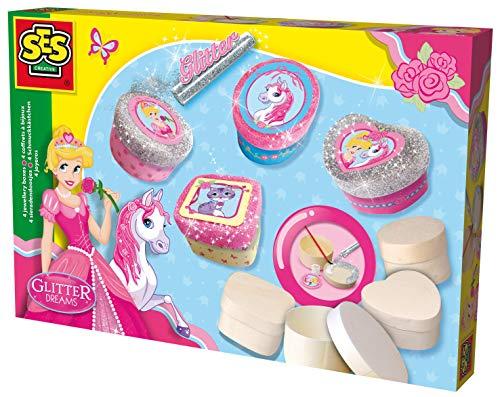 SES Creative - 14122 - Glitter Dreams - Boîtes à Bijoux pailletées