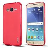 Galaxy J3 2016 Case, J&D [Drop Protection] Samsung Galaxy J3 Case [Slim Cushion] Shock Resistant Protective Premium Jelly Case Slim Case for Samsung Galaxy J3/Galaxy J3 2016/Galaxy J3 V (Red)
