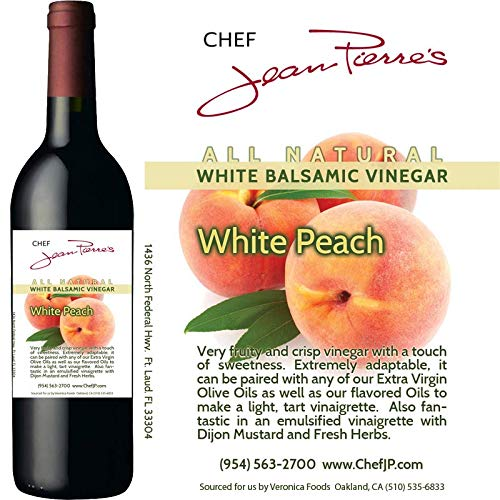 "Traditional Barrel aged 12 years ""Peach White Balsamic"" 100% ALL NATURAL vinegar 750ml (25oz)"