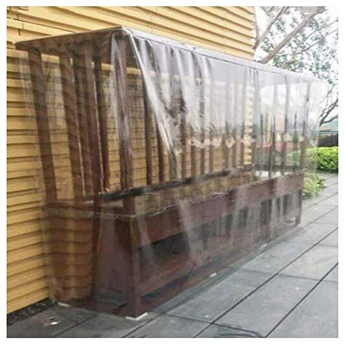Transparente Jardín Funda Muebles Sofá Alacena Guardapolvo Impermeable Lona Alquitranada el Plastico al Aire Libre Patio Mesa Silla Cubrir, Personalizable ALGFree (Color : Clear, Size : 80x80x