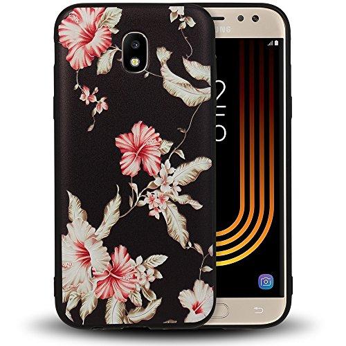 NALIA Custodia compatibile con Samsung Galaxy J5 (17), Custodia Protezione Silicone Copertura Sottile Case Gomma Morbido Ultra-Slim Protettiva Telefono Cellulare Bumper Guscio, Designs:Passion Flower