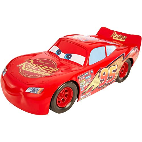 Cars 3- Cars Mega Rayo Mcqueen, 50 cm (Mattel FBN52)