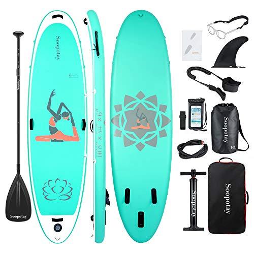 BATURU Planche de paddle gonflable 325 x 86 x 15 cm, iSUP Pack avec tous les accessoires (Aqua de...