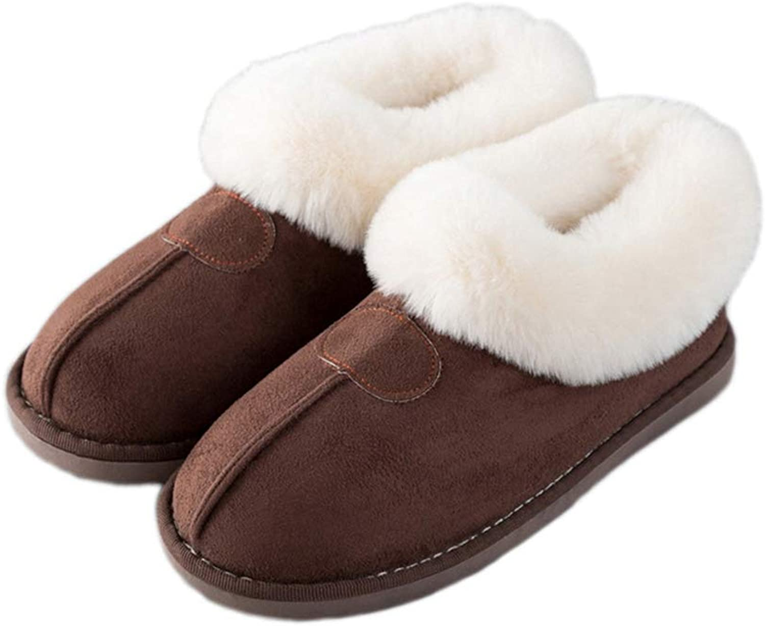 ASO-SLING Womens Home Slippers Comfort Cotton Plush Memory Foam Breathable Anti-Slip Winter Indoor Warm House shoes