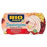 Rio Mare - Insalatissime alla Messicana: Tonno Pinne Gialle con Fagioli Rossi, Mais, Peperoni, Senza Conservanti, 2 lattine da 160g