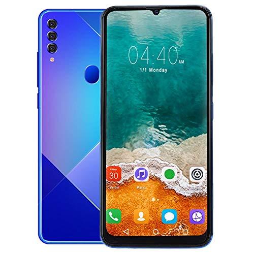 T angxi 6.7' Water Drop Screen Smartphone, 2+16G 6.7' Water Drop Screen Dual Card Dual Standby Fingerprint Face Unlock Smart Phone with 128G Memory Card(UK)