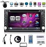 Avec caméra. GPS pour voiture Double DIN 6,2» dans le tableau de bord lecteur DVD écran tactile avec Bluetooth USB/SD/MP3pour une voiture universelle