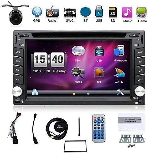 avis gps integre voiture professionnel Avec un appareil photo.  Lecteur DVD à écran tactile double DIN 6,2 pouces pour GPS de voiture…