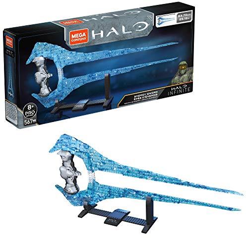 Mega Construx Halo Infinite, épée d'énergie 53 cm à construire, 567 pièces, jeu de briques de construction, 8 ans et plus, GPB05