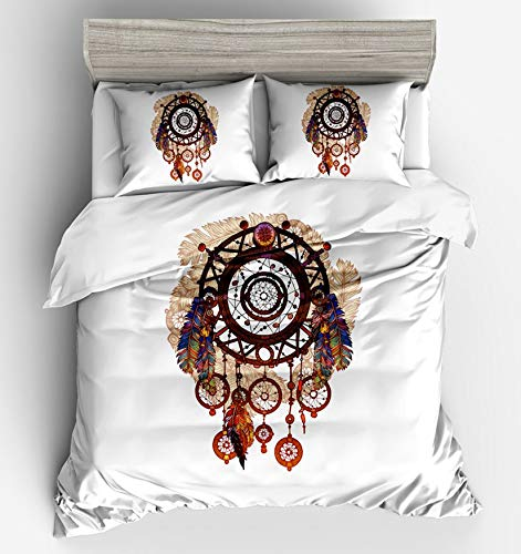 MGORJGR wind chime bed four piece duvet simple bedding Duvet Cover Sets Reactive Printing