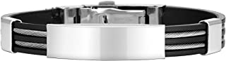 Best stainless steel silicone black bracelet Reviews