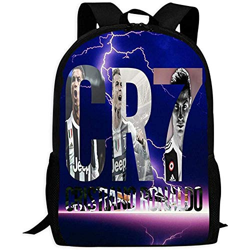 hengshiqi Mochila Backpack, School Backpack,Cristiano Ronaldo Cr7 Fashion School Bag for Adult