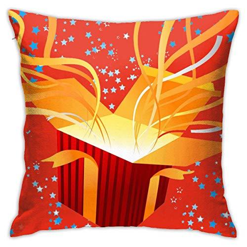Hangdachang Throw Pillow Case 45cm x 45cm Merry Christmas (11) Pillowcase,Square Throw Covers,Decorative Cushion for Sofa Couch Car