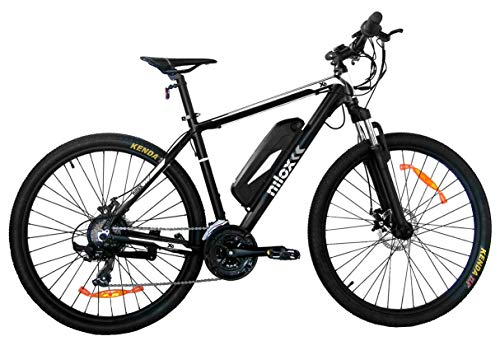 Nilox 30NXEB275VFM1V2 - Bicicleta eléctrica E Bike 36V 11.6AH 27.5X2.10P X6, Motor 36 V 250 W, batería Recargable Samsung de Litio 36 V, Carga Completa 5 h, chasis Aluminio, Velocidad máxima 25 km/h