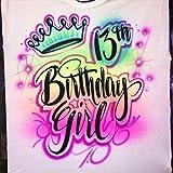 Airbrush Custom Birthday Girl T-Shirt - Spray Paint Design