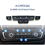 HUOGUOYIN Car Stereo Bluetooth Botón de CD Consola de Aire botón Condición AC Kit de reparación for BMW 1 2 3 4 F Serie F20 F30 F35 F45 F46 F80 Fascia del Coche (Color Name : A 2(7PCS Set))