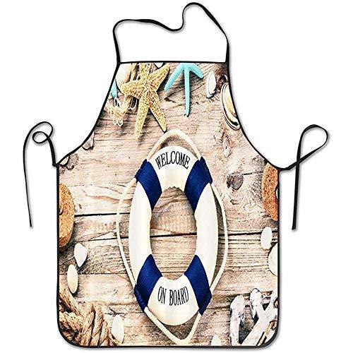 Water-wave Seesommerferien-Rahmen mit Muscheln und Rettungsring-Schutzblech Küche, die Schutzblech kocht