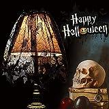 CODIRATO 2 PCS Halloween Pantalla de Lámpara, Cubierta de la Lámpara de Halloween de Encaje de Murciélago Sombra de Lámpara de Halloween para Pantalla de Lámpara, Mesa, Chimenea (152x50.8CM, Negro)