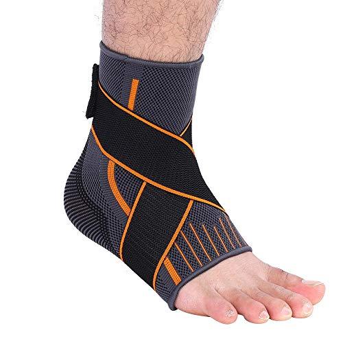 Ankle Support, 1 Stücke Sport Knöchelbandage Fußhülse Fußkompression Wraps Fußgelenkbandage Damen Herren für Basketball Fußballtraining Volleyball (L)