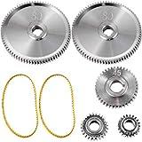 VEVOR Engranajes de Torno de Metal, Conjunto de 5 pcs Metal Torno Engranajes para Mini Tornos y Fresadoras Modelo de Mini CJ0618 Herramienta Engranajes de Metal con Alta Precisión Fácil de Instalar