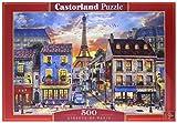 Castorland Streets of Paris 500 pcs Puzzle - Rompecabezas (Puzzle rompecabezas, Ciudad, Niños y adultos, Niño/niña, 9 año(s), Interior) , color/modelo surtido