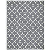 Maples Rugs Rebecca Contemporary Area Rugs for Living Room & Bedroom [Made in USA], 7 x 10, Grey/White