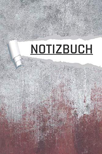 Notizbuch: Industrie Beton Antik für den Schulanfang, Uni und Büro I Dot Grip I 120 Seiten I DIN A5 I Notizheft I matt