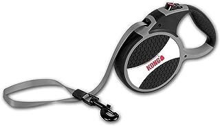 KONG Explore Retractable Dog Leash, Large, Grey, 7,5m Tape