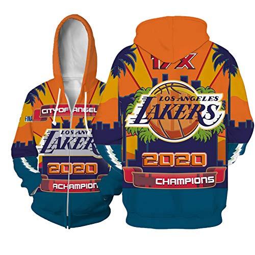 Sudadera de baloncesto con capucha para hombre, diseño de campeón de Los Angeles Lakers de manga larga con impresión 3D, camiseta informal Memorial Sportswear (S-5XL)