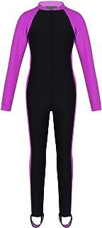 TTAO Kids Boys Girls One Piece Zipper Rash Guard Sun Protection Swimsuit Sunsuit Bathing Suit Full Body Wetsuit