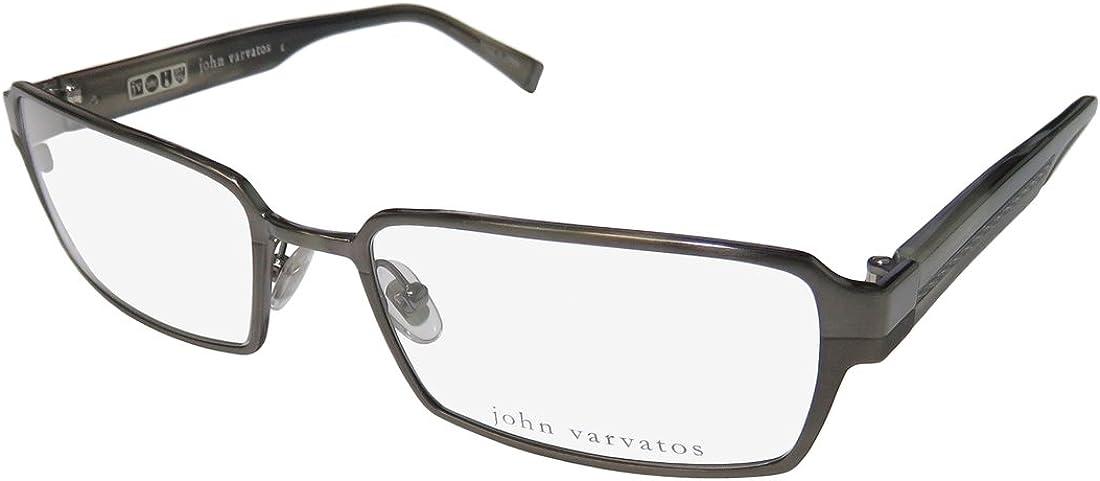 John 毎日続々入荷 Varvatos Designer Eyeglasses V133 LEN Gunmetal 価格 in 55mm DEMO