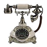 VBESTLIFE FSK/DTMF Vintage Antik Telefon,38-Gruppe Anrufaufzeichnungen One-Taste Wahlwiederholung Antikes Telefon für Hause,Büro, Haus, Sterne Hotel, Kunstgalerie, Schmuckgeschäft usw.