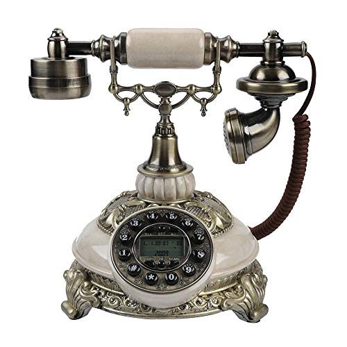 Eboxer Téléphone Fixe Rétro Téléphone Filaire Antique Vintage FSK/DTMF Ecran Affichage ID de l'Appelant/Rappel Téléphone Fixe Créatif pour Salon Chambre