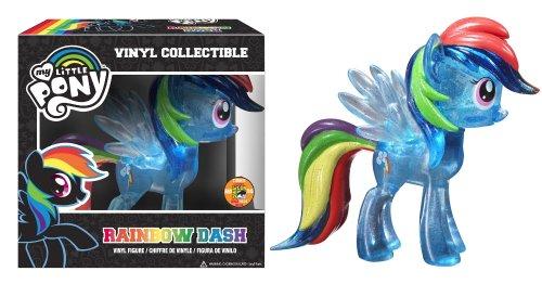 Funko: de My Little Pony Rainbow Dash Figura de Vinilo, Transparente con Purpurina (SDCC Exclusivo de Amazon)