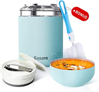 Kitsure 30 oz Thermos Food Jar, Leak Proof Vacuum...