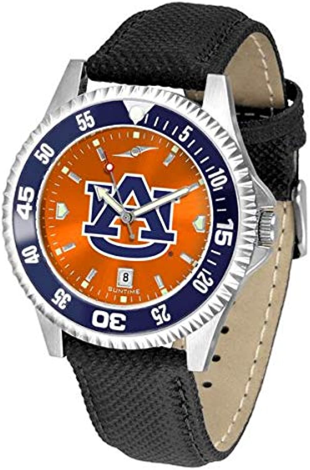 Auburn Tigers Competitor AnoChrome Men's Watch - color Bezel