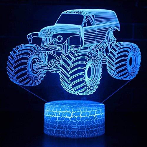 3D Illusion LED Lampe Monster Truck Modell Nachtlichter für Kinder Schlafzimmer Dekoration Kreative Geschenk Lampen