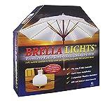 Blue Star Group Brella Lights - Patio Umbrella Lighting System with Power Pod & 6 Rib, White