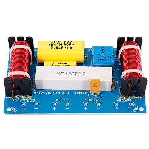 CARRYKT WEAH-338 3 vías 120 W Altavoz Divisor de frecuencia Audio Altavoz Filtro Crossover