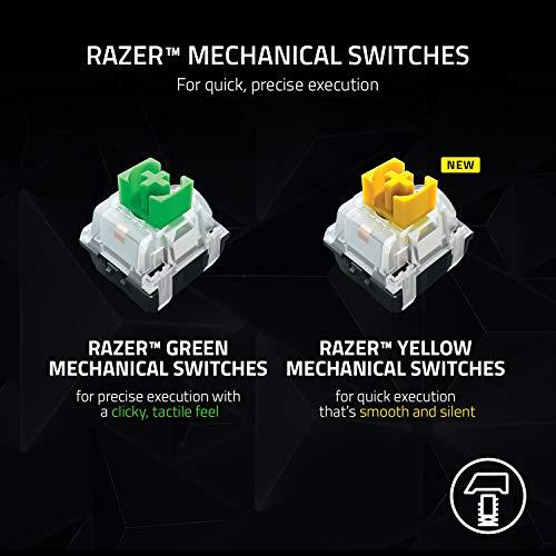 Razer BlackWidow V3 Pro Mechanical Wireless Gaming Keyboard: Yellow Mechanical Switches - Linear & Silent - Chroma RGB Lighting - Doubleshot ABS Keycaps - Transparent Switch Housing - Bluetooth/2.4GHz