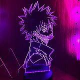 My Hero Academia Dabi 3D Lámpara Anime Led Luz para Dormitorio Decoración Cool Regalos de Navidad para Él RGB colorido Noche Luz Dabi