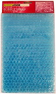 Farbige Luftpolsterfolie – Blau – 5 Bögen, Größe 280 mm x 190 mm, von Premier