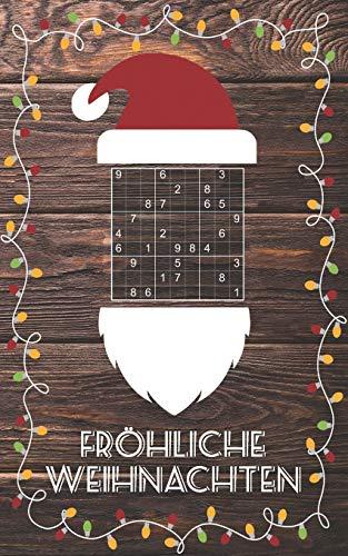 Fröhliche Weihnachten - Sudoku: Kleines Rätselbuch | Schöne Geschenk Idee für Julklapp, Wichteln, Adventskalender, Nikolausstiefel | Für Jugendliche & Erwachsene
