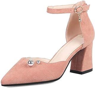 BalaMasa Womens ASL06567 Pu Block Heels