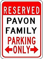 金属サインパフォス家族駐車場ノベルティスズストリートサイン