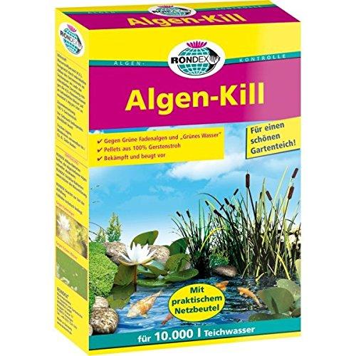Rondex Algenkill, 3kg für einen klaren Gartenteich und gegen lästigen Algen im Teich - ausreichend für 30.000 Liter Gartenteich